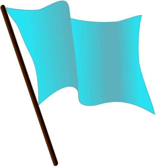 Drapeau bleu clair