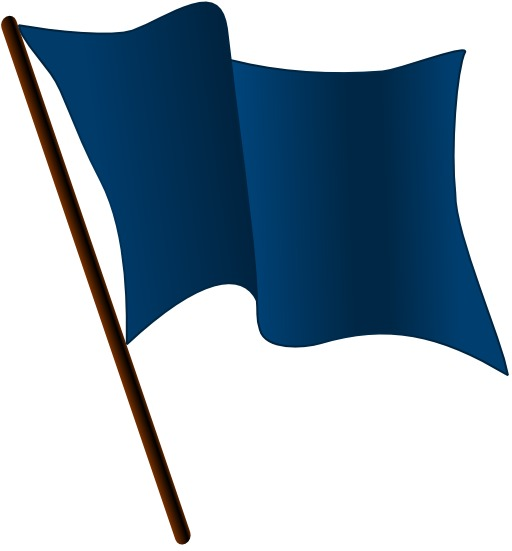 Drapeau bleu foncé