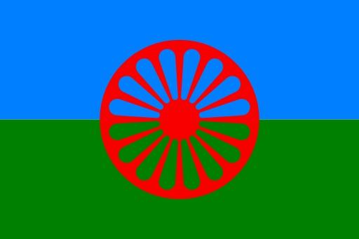 Drapeau du peuple Rom