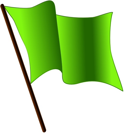 Drapeau vert