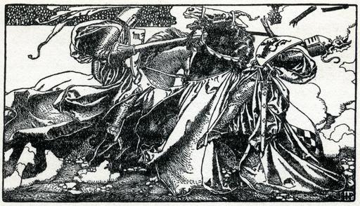 Duel de chevaliers en 1903