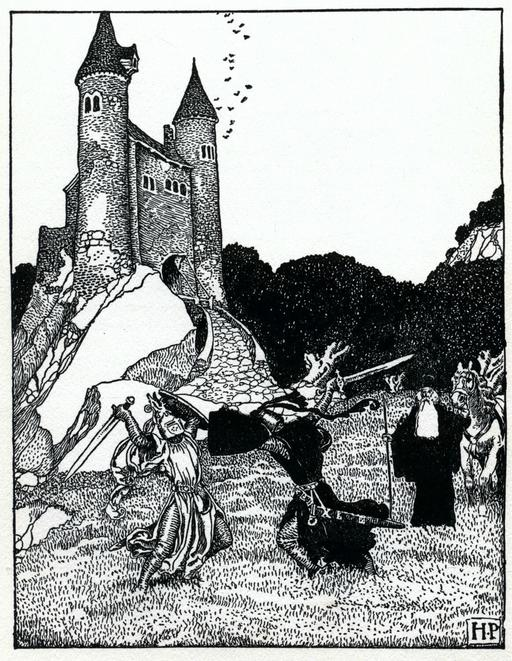 Duel médiéval à l'épée en 1903