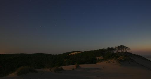 Dune du Pilat et forêt de nuit