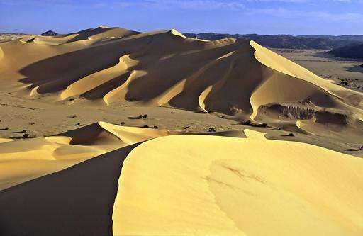 Dunes de sable de Temet au pied de l'Aïr au Niger