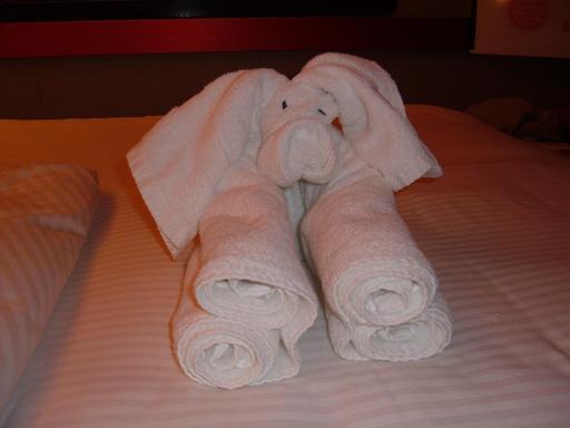 Éléphant en serviette de bain