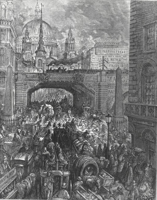 Embouteillage à Londres en 1872