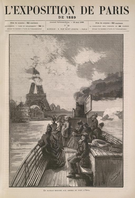 En bateau-mouche aux abords du pont d'Iéna