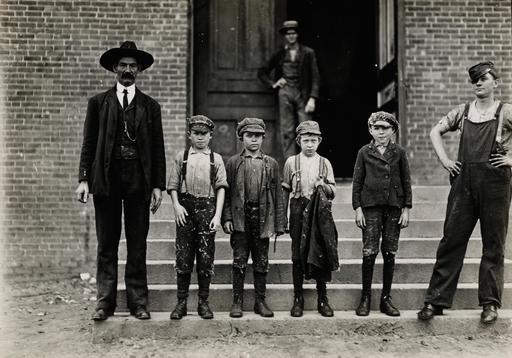 Enfants américains au travail en 1908