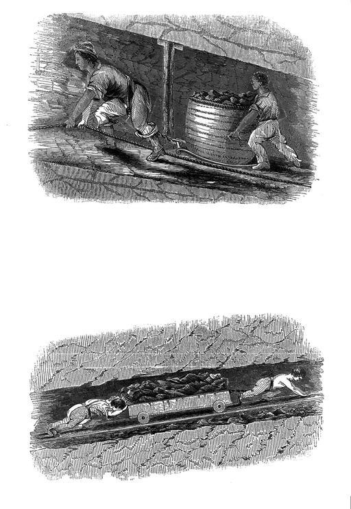 Enfants anglais dans les mines de charbon en 1843