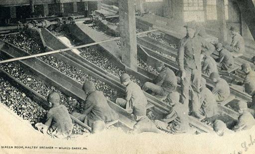 Enfants dans une mine de charbon en1906
