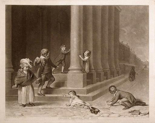 Enfants et boules de neige