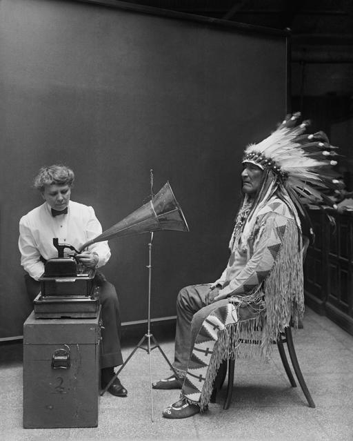 Enregistrement de chef indien en 1916