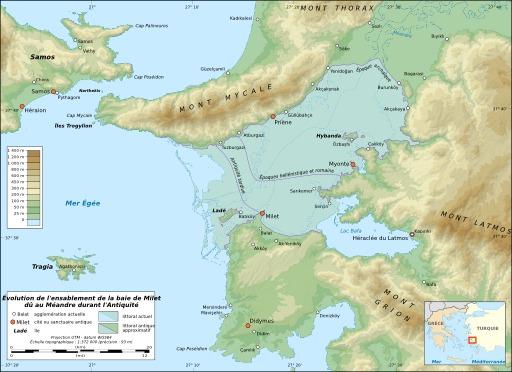 Ensablement de la baie de Milet