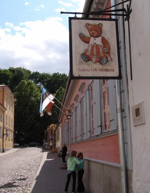 Enseigne du musée du jouet en Estonie