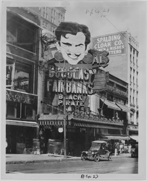 Entrée de cinéma américain en 1926