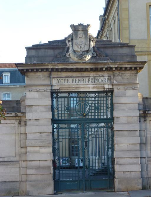 Entrée du lycée Poincaré à Nancy