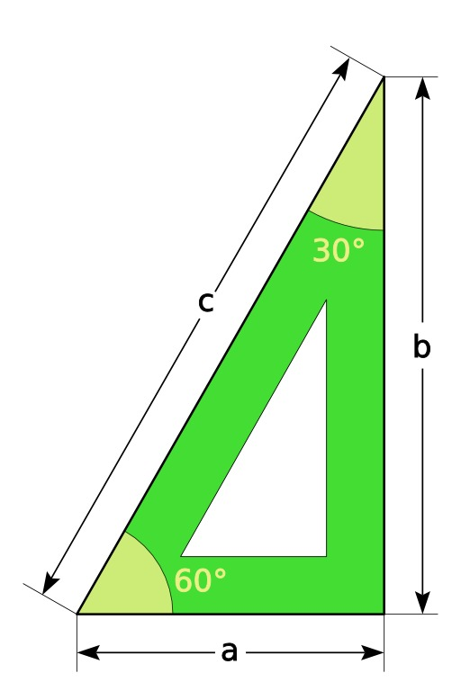 Équerre et triangle rectangle