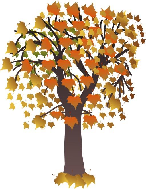 Érable stylisé en automne