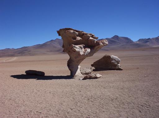 Érosion éolienne en Bolivie