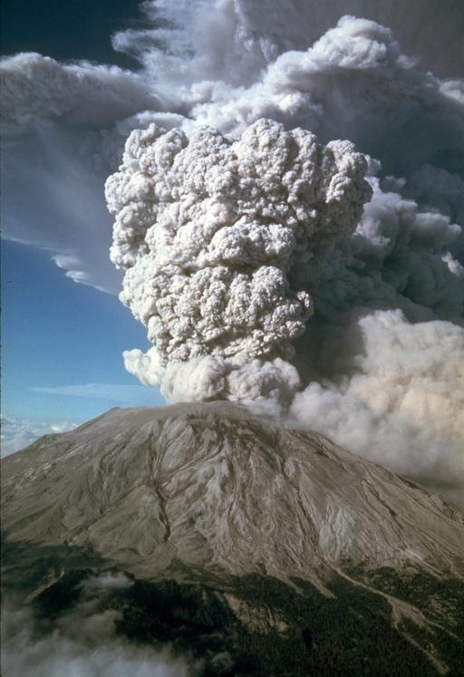 Éruption explosive de Mont St Helens en 1980