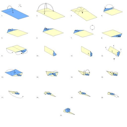 Escargot en origami
