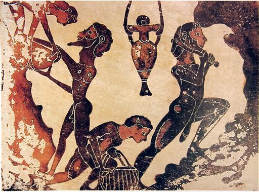 Esclaves dans une mine antique