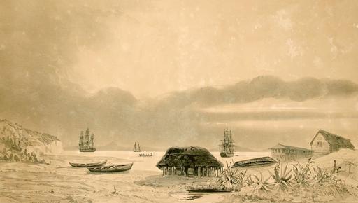 Établissement des baleiniers sur l'île Quiriquina au Chili en 1838