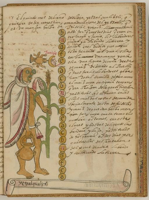 Etzalcualiztli, repas de maïs et de haricots le sixième mois du calendrier solaire aztèque