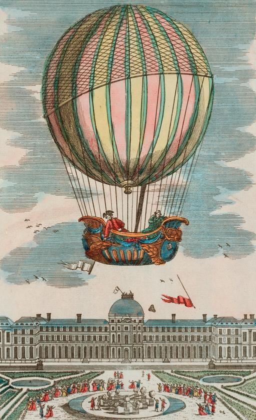Expérience du globe aérostatique aux Tuileries en 1783