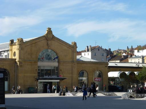 Façace de la gare à Nancy
