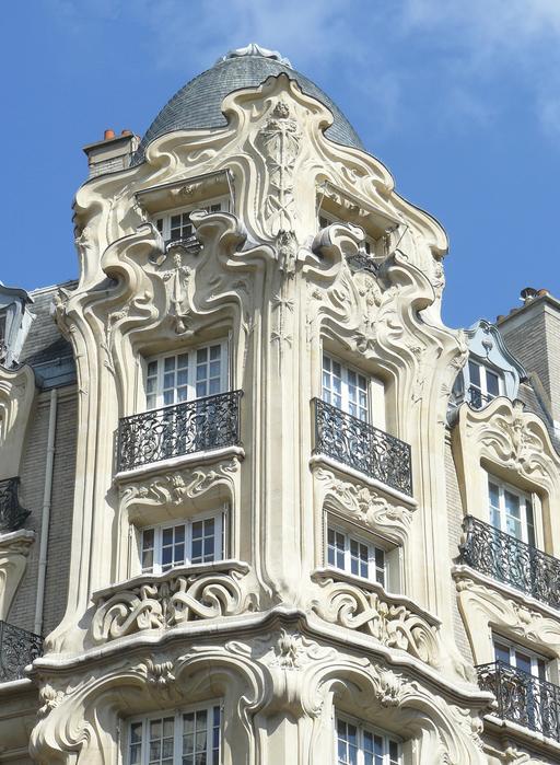 Façade Art nouveau à Paris en 1905