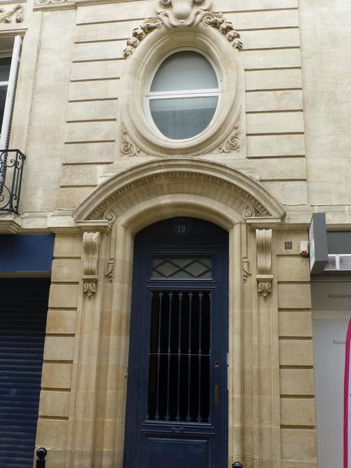 Façade d'hôtel particulier à Bordeaux