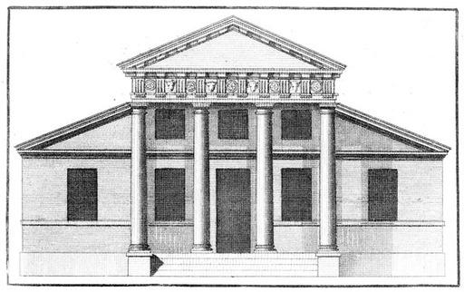 façade de style Palladio