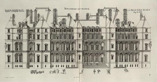 Façade du château de Madrid
