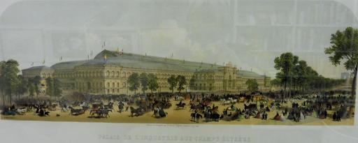 Façade du Palais de l'Industrie en 1855