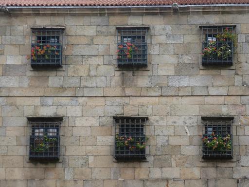 Façade fleurie en Espagne
