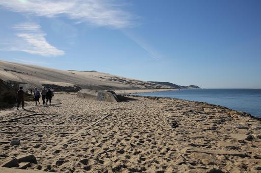 Façade ouest de la Dune du Pilat en octobre 2014
