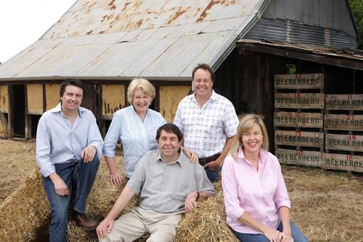 Famille de fermiers australiens