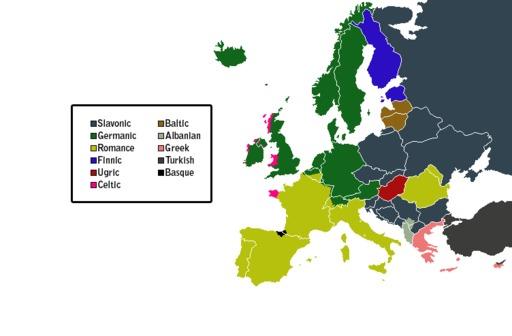 Familles de langues en Europe