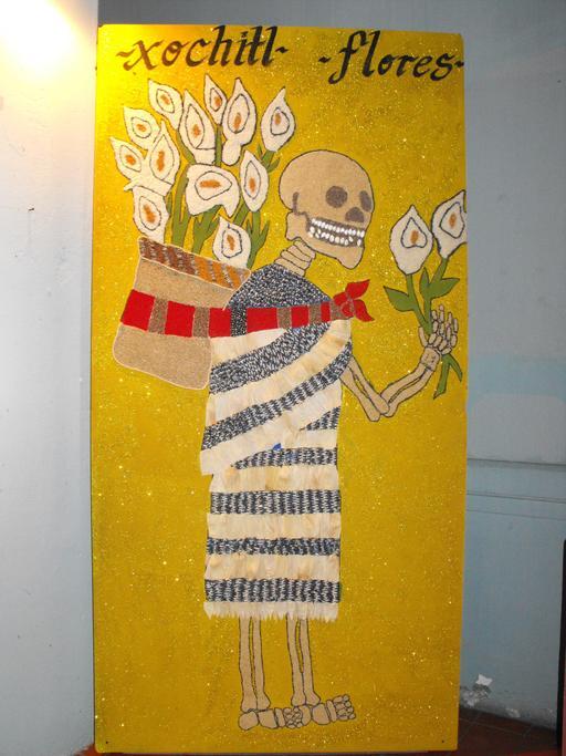 Femme squelette au Mexique