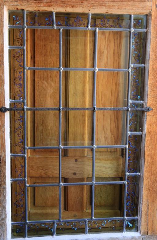 Fenêtre-vitrail au Clos Lucé