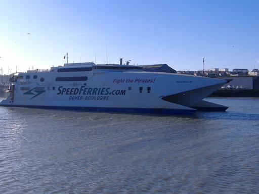 Ferry-boat entre Douvres et Boulogne-sur-Mer