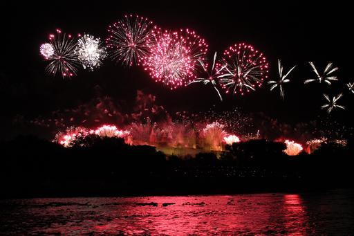Feu d'artifice à Carcassonne le 14 juillet 2012