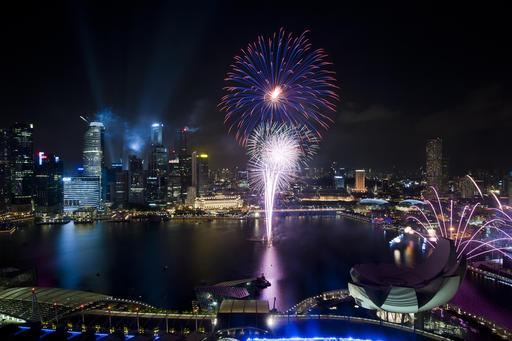 Feu d'artifice à Singapour