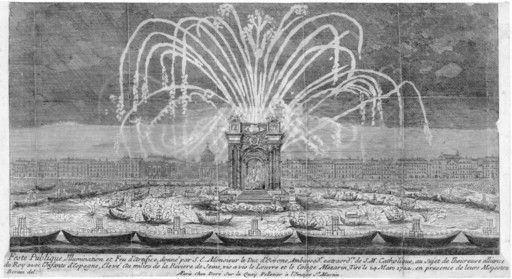 Feu d'artifice en 1722