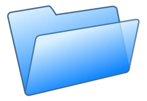 Fichier bleu