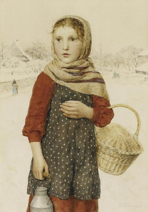 Fillette en hiver