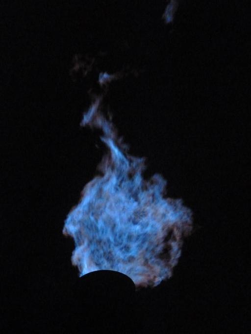 Flamme de combustion de haut fourneau