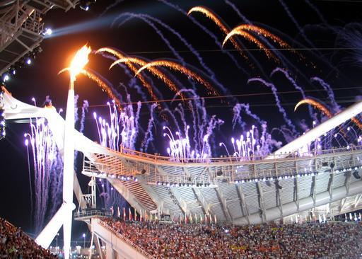 Flamme olympique d'Athènes