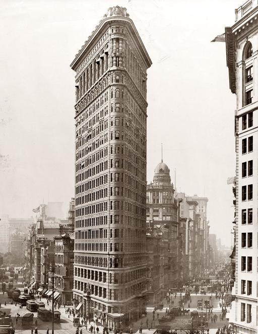 Flatiron Building à NY en 1910